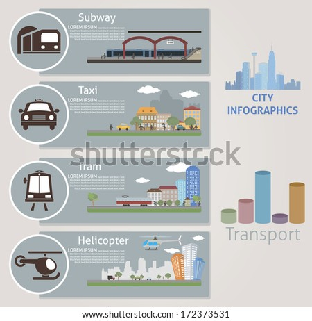 city transport vector for