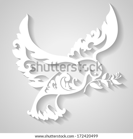 ornamental dove with olive