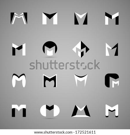 unusual letters set   isolated