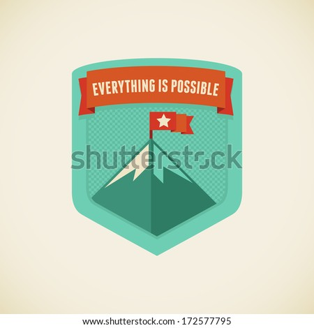 vector badge in flat style