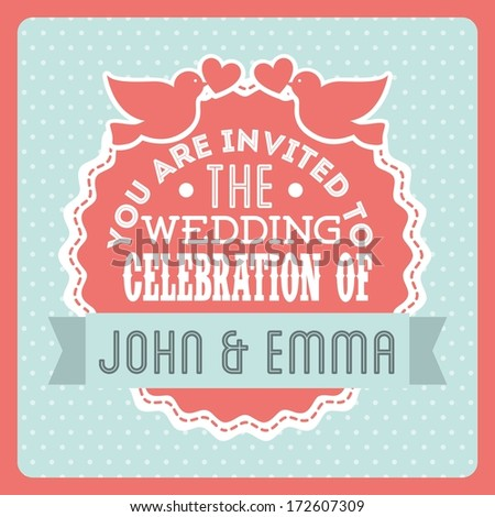 wedding design over dotted