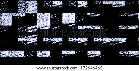 tv screen with static noise by