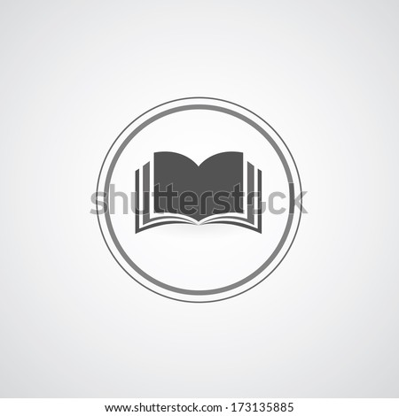 book symbol on gray background