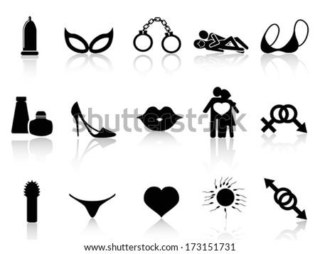 black sex icons set