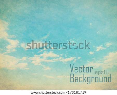 vector retro sky vintage