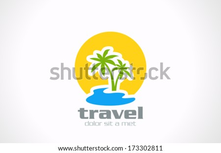 tourism travel abstract vector