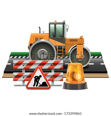 vector road construction with