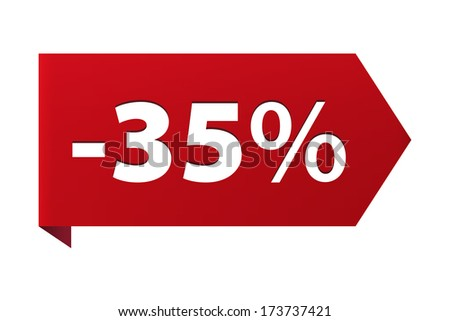 discount minus 35 percent