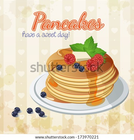 vector pancake breakfast
