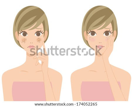 stain drying skin woman