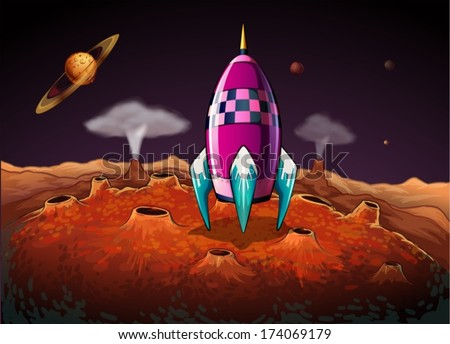 illustration of a rocket at the