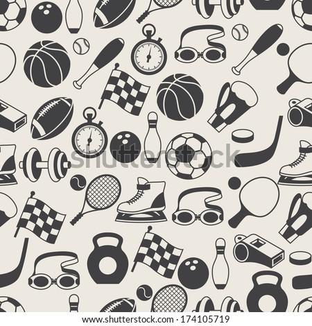 seamless pattern of sport icons