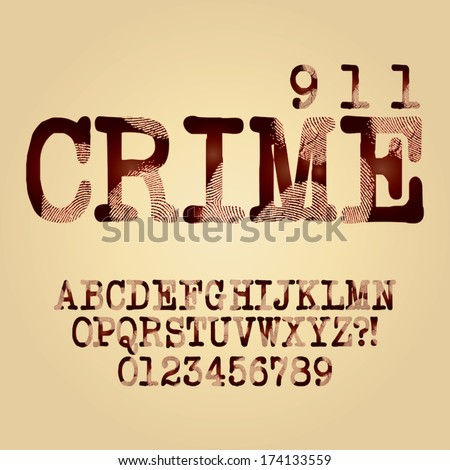 abstract criminal alphabet and