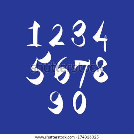 scribble handwritten numbers