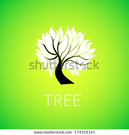 paper tree  with branch an
