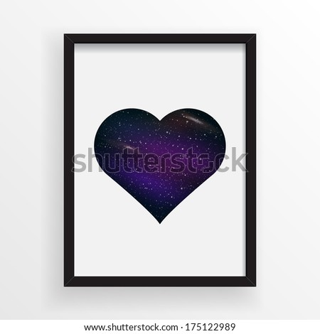 abstract universe texture heart