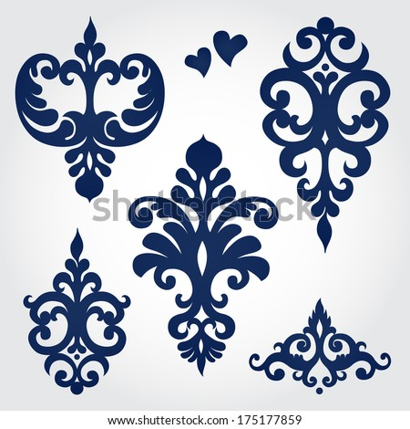 stock-vector-vector-set-with-baroque-ornaments-in-victorian-style-ornate-element-for-design-it-can-be-used-for