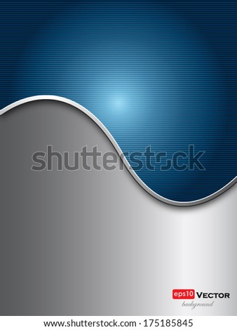 abstract blue and silver