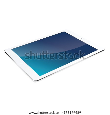 vector modern tablet computer