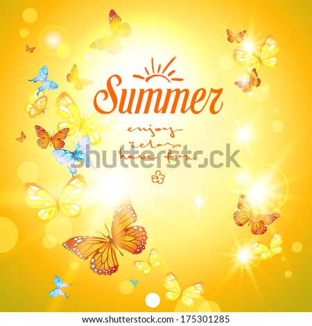 positive summer background with