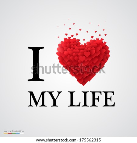 i love my life  font type with