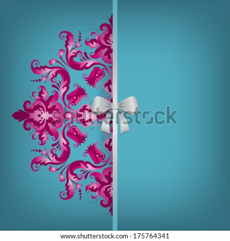 filigree floral pattern on a
