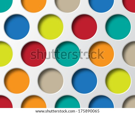 colorful circles geometry