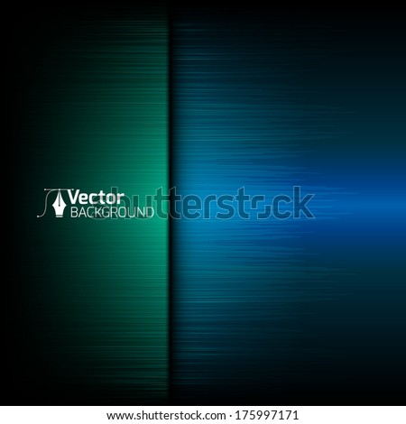 tech blue background with green