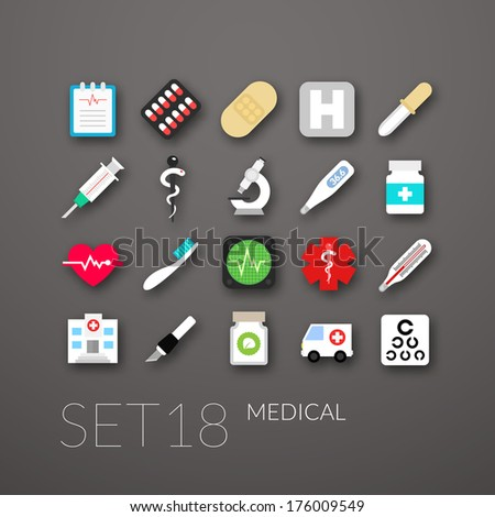 flat icons set 18   medical