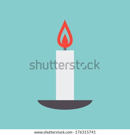 candle on a plate
