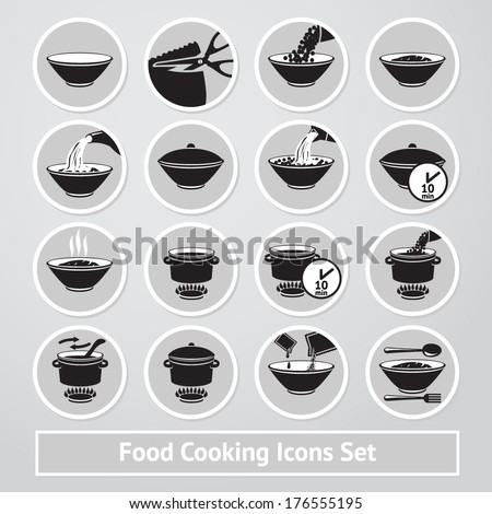 vector set of cooking icons
