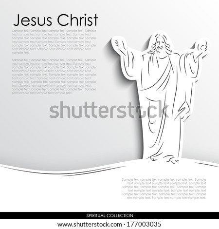 jesus christ abstract