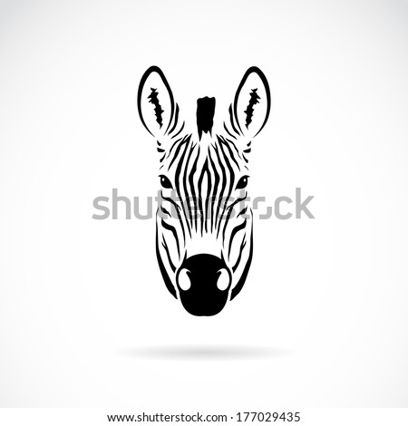 vector image of an zebra head