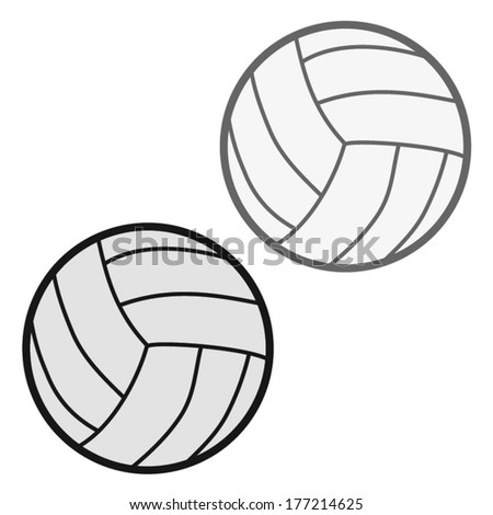 valley ball vector illustration