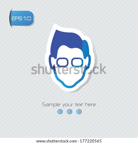 geek avatar symbol vector