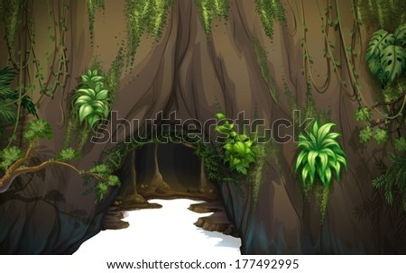 illustration of a cave