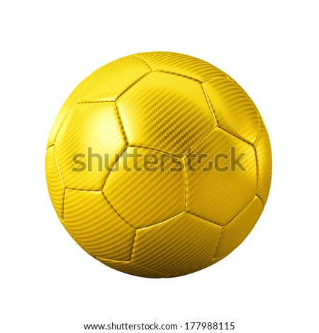 3d gold classic soccer ball on