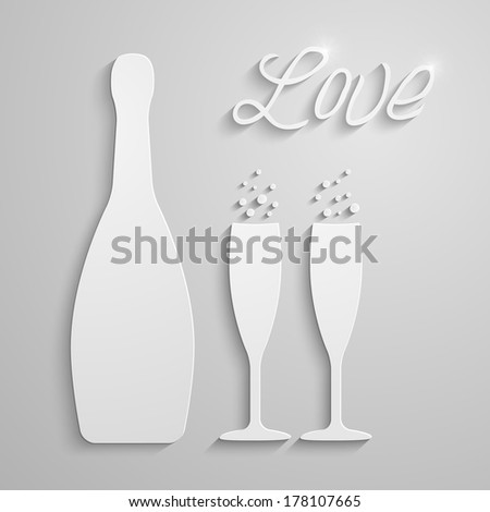 vector two glasses with