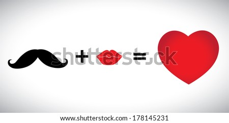 concept vector of hearts