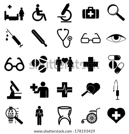 collection flat icons medicine