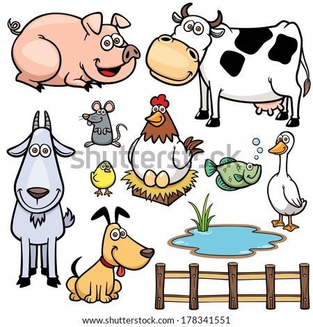 vector illustration of farm