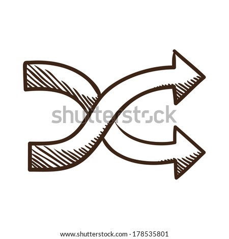 arrows sketch symbol isolated