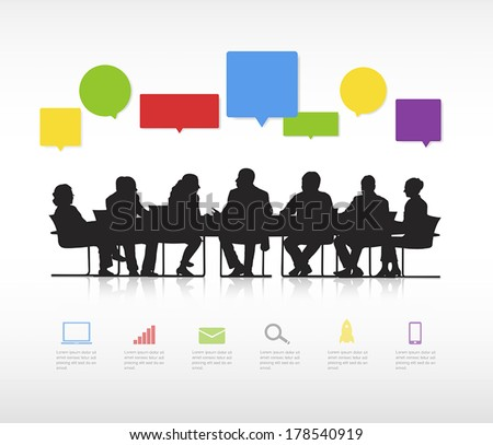 vector of business meeting and