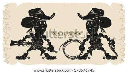 cartoons american cowboys