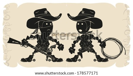 cartoons sheriff and bandit
