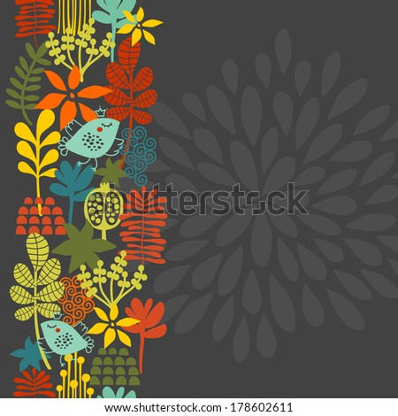 seamless vertical pattern with