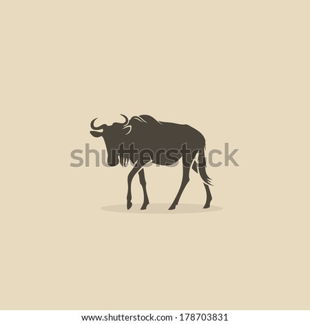 wildebeest   vector illustration