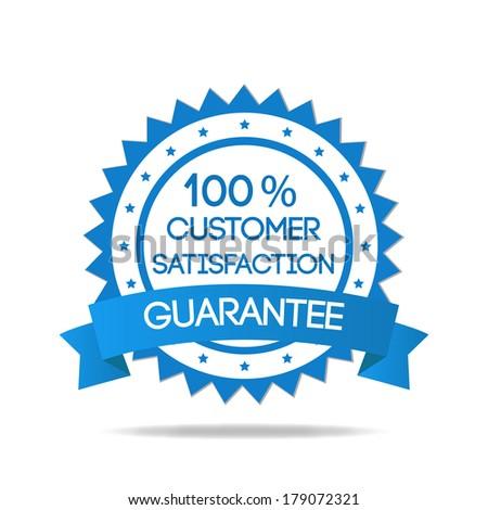 blue customer service badge