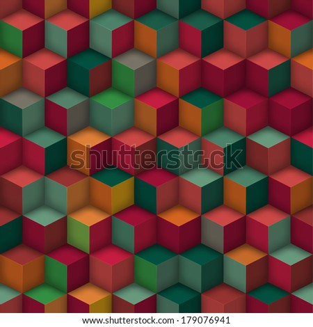 cube geometric seamless pattern