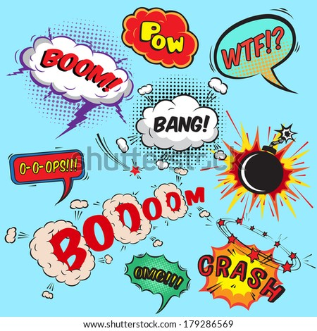 comic speech bubbles design